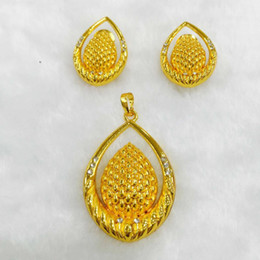 Western earrings necklace sets online shopping - Yulaili Newest Western Style Crystal Pendant Necklace Earrings Dubai Jewelry Sets for Women Fashion Nice Beautiful Gift