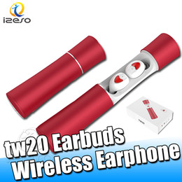Discount magnetic charging sony - TW20 Headset Bluetooth 5.0 Wireless TWS Earbuds For business HiFi Sound Stereo In-ear Headphones Mini Magnetic with Mic