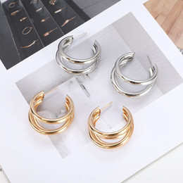 cheap number plates Australia - 18K Gold Silver Plated Hoop Earrings for Women Stud Earring Bridal Wedding Jewelry Cheap Women Alloy Earrings Wholesale Price