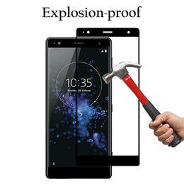 Sony xperia z compact online shopping - For Sony Xperia XZ3 XZ2 XZ1 Compact Tempered Glass For Sony XA2 XA1 Ultra X compact XP Z5 XA Full Cover H Hard Silk Print Screen Protector