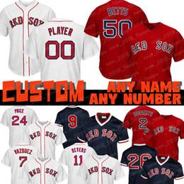 Boston jerseys online shopping - Custom Mookie Betts Red Sox jersey Ted Williams Boston Andrew Benintendi JD Martinez Wade Boggs Chris Sale David Ortiz