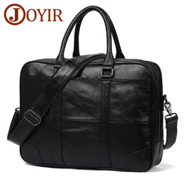 business briefcases men NZ - New Genuine Leather Bag Business Men Laptop Tote designer Briefcases Messenger Crossbody Shoulder Handbags Men's document case Factory Best