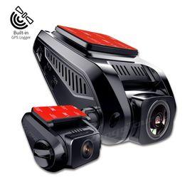 "Hd Car Cams Zoom Australia - Range Tour Dual Lens Dash Cam Full HD 1080p Car DVR Camera 2.7"" LCD WDR Video Recorder support GPS Logger with 720p Rear Dashcam"