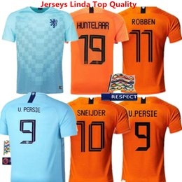 7d246652d57 Football Shirts Netherlands Soccer Jersey Babel Vigril MEMPHIS Home Orange  18 19 Robben SNEIJDER V.Persie Dutch Holland Adult Kids Kits
