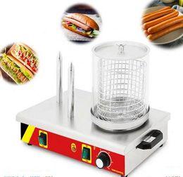 $enCountryForm.capitalKeyWord Australia - commercial electric hot dog machine stainless steel 3 sticks sausage bun warmer hotdog steamer sausage roller grill