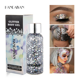 Eight Hair Australia - 2019 Dropshipping New Handaiyan Teras glitter body gel laser sequins 8 colors optionals for eye hair face lip and body in stock