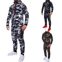 Jacket Pants Tracksuit Australia - NIBESSER 2019 Men Fashion Camouflage Jackets+Pants Set Male Tracksuit Outdoors Suit Men's Gyms Set Casual Sportswear
