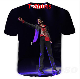 sublimation t shirt printing NZ - 2019 Hot Sales Big Yards T-Shirt Women Men Michael Jackson 3D Sublimation Print T-Shirt Summer Clothes T-Shirt DRW0133