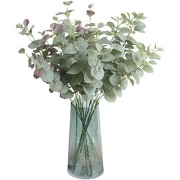 Decorative Leaf Plants UK - Artificial Plant Eucalyptus Green Plant Branch Leaves 68 CM Home Garden Party Decorative DIY Plant Wall Ins Photography Props shipping DHL