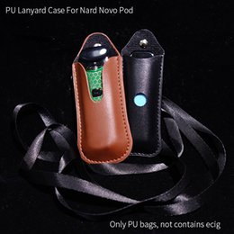 $enCountryForm.capitalKeyWord NZ - PU Leather Necklace Lanyard Case For Smoke Novo Nord Pod Cover Carrying Bag Pouch Pocket Vape