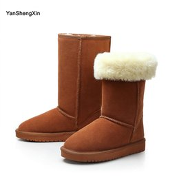 $enCountryForm.capitalKeyWord Australia - Wholesale Shoes Woman Boots Classic Cowskin Snow Boots Warm Wool Blended High Quality Fur Women Shoes Winter Boots Ladies Mid-Calf Booties