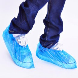 $enCountryForm.capitalKeyWord Australia - 100Pcs pack Medical Waterproof Boot Covers Plastic Disposable Shoes Cover Overshoes Rain Shoe Covers Mud-proof Blue Home Tools