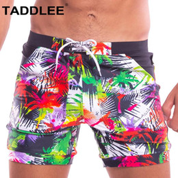 a10a59ca7a Taddlee Brand Swimwear Men Square Cut Swimsuits Sexy Swimming Boxer Briefs  Bikini Bathing Suits Gay Surf Board Shorts Trunks New