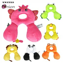 Animal Travel Pillows Australia - 29*19 cm 0-12 Months Newborn Baby Infant Safety U Shape Memory Pillow Neck Protection Toy Travel Car Seat Cute Animal Soft Child
