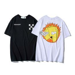 1e9a817eca 19ss para hombre Hip Hop de algodón para hombre ropa OFF camiseta cuello  redondo multimillonario hombre Tops verano manga corta camisa blanca blanca  tee ...