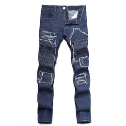$enCountryForm.capitalKeyWord UK - Men's outer big hole embroidered patch Slim straight jeans personality Europe and the United States back pocket men's denim trousers