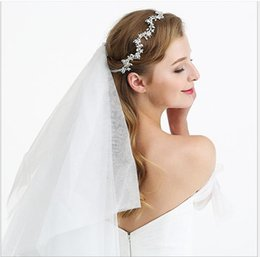 Discount white cross belt Handcrafted Pearl Hair Belt Bride Headdress for Cross-border Wedding Garments in Europe and America