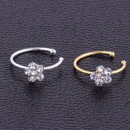nose piercing styles UK - Body Jewelry Sells Diamond Plum Blossom Nose Ring 925 Silver Nose Nail Thai Style Body Piercing Jewelry 2019 Hot
