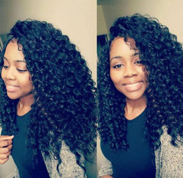 Full Lace Wig Curly 6a UK - 6A 100% Unprocessed Mongolian Full Lace Human Hair Wigs Afro Kinky Curly Wig With Baby Hair Lace Front Wig 10-26inches in Stock