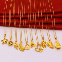 $enCountryForm.capitalKeyWord NZ - Five-pointed star new copper plated Vietnam Sha Jin love butterfly necklace European coins Jin long not faded alloy jewelry female wholesale