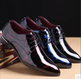 $enCountryForm.capitalKeyWord Australia - Plus Size 48 Pionted Toe Patent Leather Shoes Red Black Dress Wedding Shoes 2018 New Spring Men's Flats Oxfords For Suits Party da09