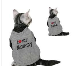 Kittens T Shirt Wholesale Australia - Sweety Pet Cat Kitten Clothes Spring T-shirt Soft Dogs Clothes Pet Clothing Summer Cotton Shirt Casual Vests For Small Pets XS-L