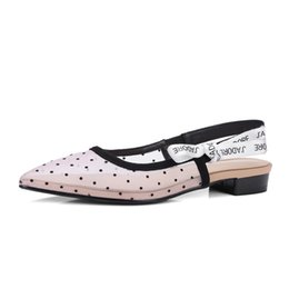 Chinese  Kmeioo Flat Shoe For Womens Pointed Toe Lace Up Slipper Ankle Strap Slides Backless Dress Flats M Sandals Ladies Shoes manufacturers
