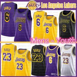 b3dbeb675a4b CHEAP LeBron 6 James Basketball Jerseys Anthony 23 Davis Los Angeles LA Laker  Jersey YOUTH KIDS mens Kobe 24 Bryant the city 2019