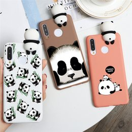 nova cartoon Australia - Fashion Panda Cute Silicone Case For Huawei P20 P30 P40 Lite Pro P Smart Plus 2019 Nova 3 3i 5 5i 6 SE Pro Cartoon Phone Cases