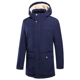 Long Waterproof Parka Australia - 48-56 Plus Size Men's Winter Causal Long Thick Warm Fleece Parka Jackets Coat Men 2018 Simple Hat Waterproof Pockets Parka Men