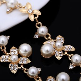 $enCountryForm.capitalKeyWord Australia - Vintage Chokers Necklaces Women Simulated-pearl Golden Plated Chain Choker Necklace Bijoux Femme Statement Necklace Wedding