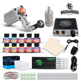 rotary tattooing NZ - Rotary Tattoo Kit Extreme Rotary Motor Machine Mini Power Supply Immortal Inks Needles Tips Tattoo Supply