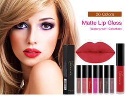 Brown Nude Lipsticks Australia - 24 Color Matte Lipstick Waterproof Long Lasting Red Lip Gloss Brown Cosmetic Pink Purple Nude Matte Liquid Lip Stick Make Up