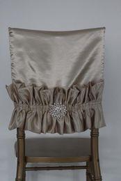 $enCountryForm.capitalKeyWord Canada - Custom Made Crystals Taffeta Wedding Chair Covers Beautiful Cheap Wedding Party Decorations Vintage Chair Sashes Supplies C07