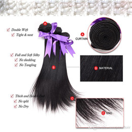 double drawn hair extensions wholesale Australia - Elibess Brand Double Drawn Weft hair 100% Human virgin hair extensions Hair bundle Natural Color 100gram One piece & 5 Piece Lot, free DHL