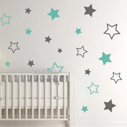 Nursery Wall Stickers For Boys Australia - Nursery Stars Sticker, Decal, Star Wall Stickers For Kids Room, Children Room Decoration, Boys Girls Decal N22 Q190610