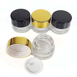 Glasses Storage Australia - 5ML clear glass tempered storage Jar for dab wax, cream, essential Oils, ointments, aromatherapy - 5g Refillable Glass cosmetic Containers