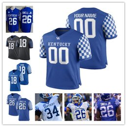 KentucKy football online shopping - Custom Kentucky Wildcats College jersey Benny Snell Jr Mens Personalized Any number any name Football stitched jerseys