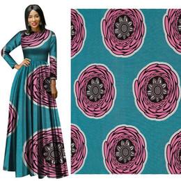 Wholesale Batik Fabric Australia - New soft cotton Fabric Fashion African Wax Print Fabric circle partern Ankara African Batik Fabric for party dress suit