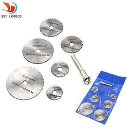 Disc Tools Australia - heel cylinder 6PCS High-speed-steel Circular Rotary Blade Wheel Discs Mandrel for Metal qstexpress Rotary Tools w  1 Mandrel Wood Cutting...