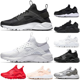 Discount balck lace - cheap Huarache 1.0 4.0 Running Shoes Men Women Top Quality Stripe Balck White Oreo Sport Shoes Designer Sneakers Trainer