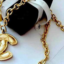81ec8977ff73 Barroco 18 K Letras de Oro Collar Colgante Capas Dobles Letras Colgante  Suéter Cadena Mujeres Encanto Joyería Accesorios de Regalo