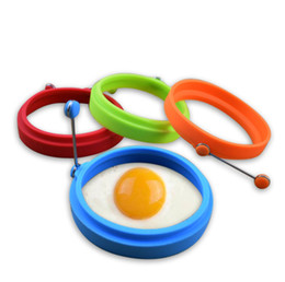 egg mould fry Canada - 2019 New hot sale Silicone Fried Egg Pancake Ring Omelette Fried Egg Round Shaper Eggs Mould