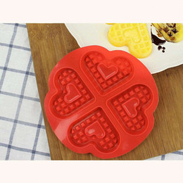 $enCountryForm.capitalKeyWord Australia - 1 x4-Slot Heart Shape Silicone Waffle Mold Non-Stick Muffin Cake Mould Tray Pan Brand New Drop shipping