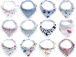 baby care cartoon 2019 - Baby Bibs Cotton Lace Tassel Double Slobber Cartoon Triangle Waterproof Infants Towel Burp Cloths Children Self Feeding