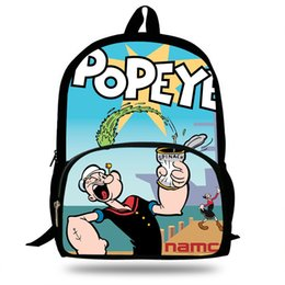 PoPular girl backPack online shopping - 16 Inch Popular Cartoon Popeye Bags Children School Bags Backpack For Kids Girls Backpacks For Boys Backpack