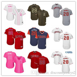 23e1e2f0 2019 top Angels of Anaheim #28 Heaney Jerseys men#WOMEN#YOUTH#Men's  Baseball Jersey Majestic Stitched Professional sportswear