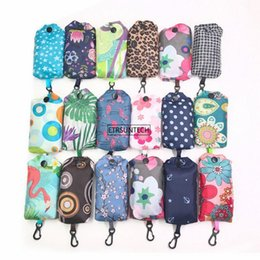 smallest mobiles UK - 200PCS Women Print Mobile Folding Shopping Bag Portable Shoulder Bag Reusable Tote Small Waterproof Storage Bags