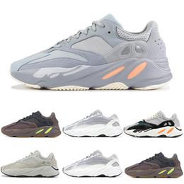 quality design dead0 22ade Adidas yeezy 700 boost calidad Kanye West Wave Runner 700 V2 estático de  color malva sólido gris zapatos deportivos para correr hombres mujeres  zapatos ...