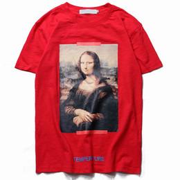 $enCountryForm.capitalKeyWord Australia - Mens designer t shirts off black white Mona Lisa HD digital printed bamboo cotton short-sleeved T-shirt top brand trend casual tshirt tees